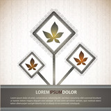 Autumn Vintage Decoration | EPS10 Compatibility Required poster