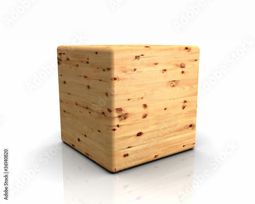 3D Holzwürfel abgerundet - Zirbe