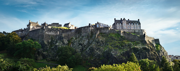Edinburgh castle wide panorama, Scotland, UK