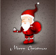 Christmas greeting card whith cute Santa Claus
