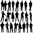 23 people silhouettes
