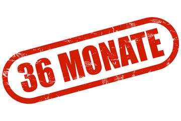 Grunge Stempel rot 36 MONATE