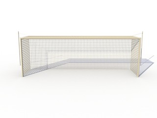 White football goals on a white background №3