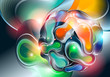 Abstract background with ball from shining forms. Vector