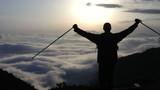 The traveler, mountains