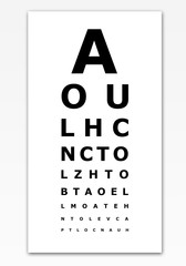 Eye test card