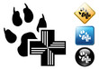 Animal care pictogram and signs