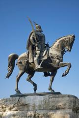 skanderberg statue, tirana, albania