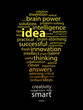 IDEAS Tag Cloud (eureka solutions answers innovation light bulb)