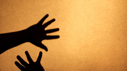 Silhouette hand