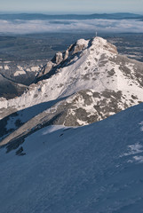 Great Giewont in snow, Tatra Mountains