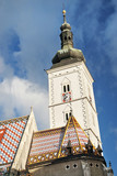 church spire in zagreb croatia poster