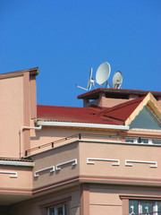 Satellite Antennas on the Roof