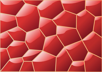 Carrelage_Polygonale_Rouge