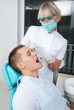 woman dentist at work