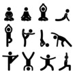 Yoga Meditation Exercise Stretching People Pictogram - 36154204