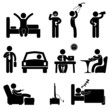 Man Daily Routine People Icon Sign Symbol Pictogram - 36154220