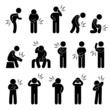 Body Ache Pain Backache Headache People Pictogram