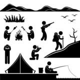Jungle Trekking Hiking Camping Campfire Adventure poster