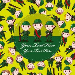 cartoon Soldier card