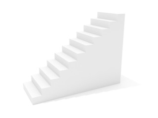3D image of stairway isolated on white