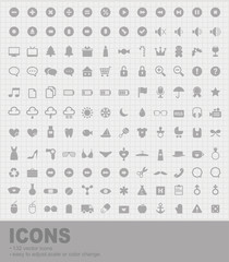 Pack of 132 Icons