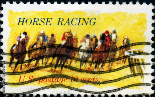 Horse racing. US Postage.