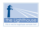 Logo lighthouse with border  # Vector