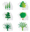 Ensemble d'Icones Arbres pour Design Logos