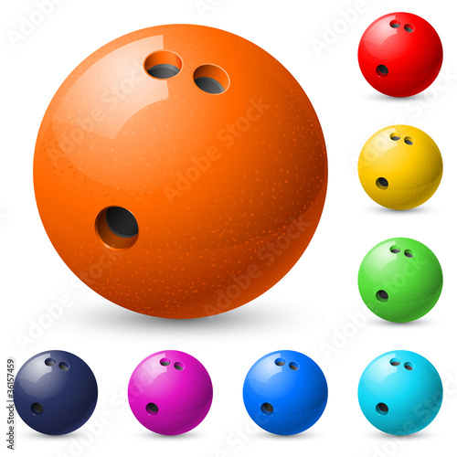 Set of bowling balls