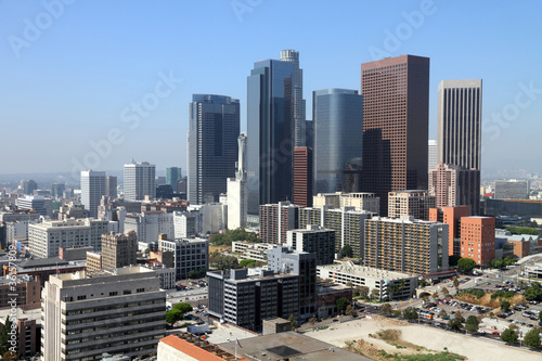 Fotobehang Los Angeles Los Angeles financial district