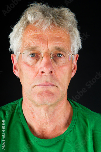 Portrait of depressive elderly man