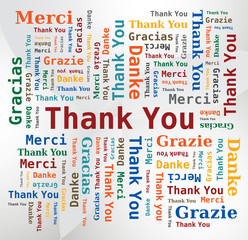 Merci - Thank you - Danke - Grazie - Gracias / Nuage de Mots