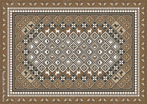 Ethnic Rug Pattern Design
