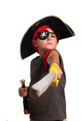 bambino vestito da pirata