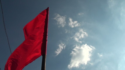 Red flags wind