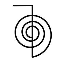 Vektor reiki symbol chokurei cho ku rei