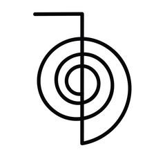 vector of reiki symbol chokurei cho ku rei