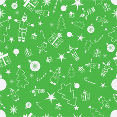 Vector seamless christmas background. Christmas pattern
