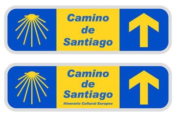 "Wegweiser ""Camino de Santiago"" / Jakobsweg"