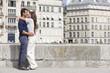 Couple kissing each other, Paris, Ile-de-France, France