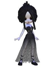 Toon Halloween Vampire Woman