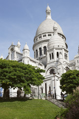 Low angle view of a church, Basilique Du Sacre Coeur, Paris, Ile-de-France, France