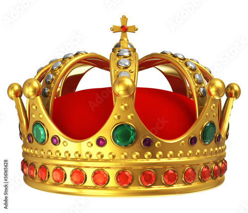 Leinwandbild Motiv Golden royal crown