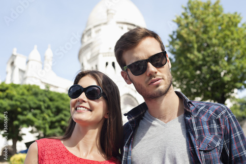 Close-up of a couple, Montmartre, Paris, Ile-de-France, France