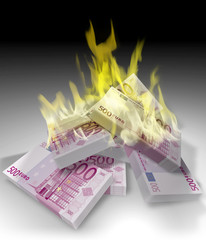 euro bruciati