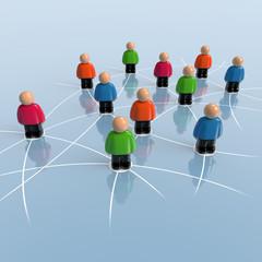 Netzwerk - Verbindungen und Kontakte