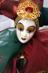 Porcelain doll Arlekino joker
