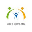 Logo parents protect children # Vector