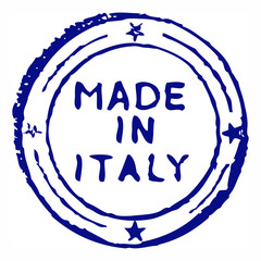 Made in italy grungy ink stamp
